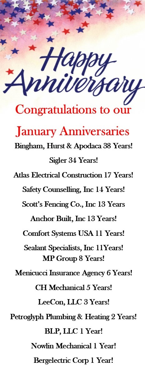 Anniversaries Jan 20
